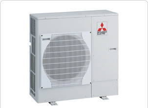 A typical Air Source Heat Pump unit